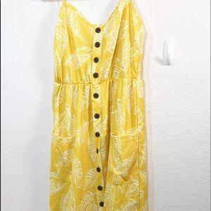 Size XL Dress, back elastic , front faux buttons